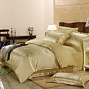 Marlin Jacquard Full / Queen 4-Piece Duvet Cover Set