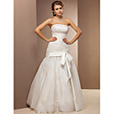 Trumpet/Mermaid Spaghetti Straps Tulle Floor-length Wedding Dress