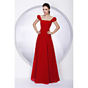 A-line Square Floor-length Juliet Chiffon Bridesmaid/ Wedding Party Dress