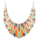 Kvinners Fan-formet Fargerike Alloy Necklace