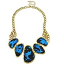 Women's Fashion Irregular Patterns Royal Blue Glasses Necklace