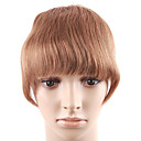 100% Indian Remy Hair 6 &quot;Natural Straight Clips In Ronde-Vorm Bangs Hair Extensions 26 kleuren Kies Naar