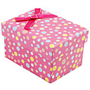 Lovely Polka Dot Gift Box With Ribbon Bow