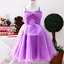 Beautiful Spaghetti Straps Satin/Tulle Wedding/Evening Flower Girl Dress