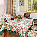 Country Polyester Cotton Blend Multi-color Print Floral Table Cloths