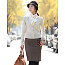 Women's Tweed Pencil Skirt with Buttons