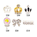 5PCS 3D Alloy Nail Decorations Diamond No.10 (assorti kleur)