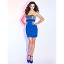 Sheath/Column Strapless Short/Mini Sequined And Knitwear Cocktail Dress
