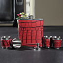 Rosso 7-oz Flask In confezione regalo (6 pezzi)