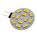 G4 6W 12x5730SMD 550-570LM 2700-3000K Warm wit licht LED Spot lamp (12V)