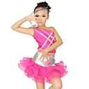 Performance Dancewear Spandex and Satin with Tulle Crystal Latin Dance Dress For Children More Colors