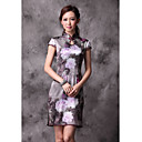 Vintage High End Heavy Silk Chinese Dress