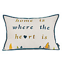 Modern Words Home Cotton Decorative Pillow Cover