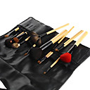 16PCS High Quality Animal Hair Waist Bag Makeup Brush Set