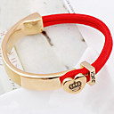 Women's Red Rope Golden Bracelet