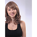 Capless Mefiun Length Mixed Color Wave Heat-Resistant Fiber Wigs