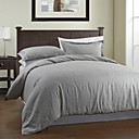 3PCS Solid Garment Wash Linen Duvet Cover Set