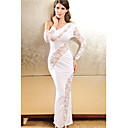 Women's White One-shoulder Lace Dress with Gloves(Bust:86-102cm Waist:58-79cm Hip:90-104cm Length:168cm)