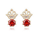 Classic 18K Gold Plated CZ Cubic Zirconia Earring(More Colors)