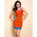 TS Contrast Color Vest Bodycon Bandage Dress