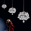 180W Contemporary Crystal Pendant Light with 9 Lights in Spiraled Metal Design