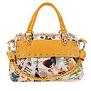 Women's Cute Print PU Satchel(33*23*11cm)