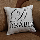 Personalized Initial And One Line Pillow Case (Pillow not included)