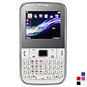 C3 dual sim 2,0 pollici tastiera QWERTY del telefono cellulare (fotocamera, JAVA, TV, FM, Quadband)
