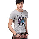 Mannen Slim Uil Katoenen T-shirt Mouw