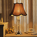 40W Elegant Table Light with Artistic Crystal Lamp Pole and Fabric Shade