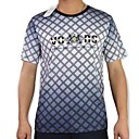 100% du coton des hommes Check Print T-shirt  manches courtes