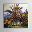 Famous Oil Painting A Palm Tree at Bordighera by Claude Monet
