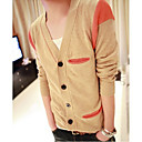 Men's Simple Contrast Color Knitwear Cardigan