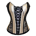 Elegant Beige and Black Satin Aristocrat Lolita Corset