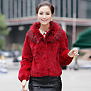 Beautiful Raccoon Fur Shawl Rabbit Fur Casual/Party Jacket(More Colors)