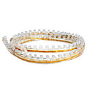120CM Car LED Transparent Flexible Light Strip, Red/White/Blue