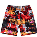 Men's Beach Casual Red Design Trunks