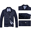 Men 's Classic Denim Style Chaqueta of England Jean Jacket Coat Outwear