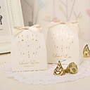 Vintage Favor Boxes With Ribbon Bow (Set of 12)