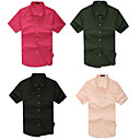 Men's Shirt Collar Buckle Fashion Short Sleeve Shirt
