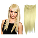 High Quality Synthetic Light Golden Clip-In Hair Extension