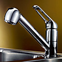 Chrome Finish Pull-out Brass Kitchen Faucet