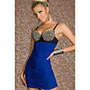 Women's Blue Fashion Rivet Halter Dress