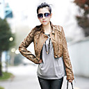 Nice Long Sleeve Standing Collar PU Casual/Party Jacket