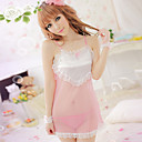 Sexy Cute Pink-bianco Chemise (Fit S-L)