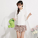 Women's Chiffon Lace ¾Sleeve Blouse