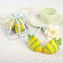 Lovely Yellow Fish Shaped Ceramic Salt & Pepper Shakers