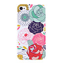 Big flor padro Hard capa protetora para iPhone 4/4S