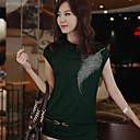 Women's Belted Print Cap Sleeve T-Shirt