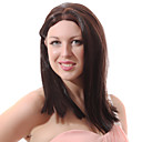 Lace Front Mixed Hair Medium Brown Straight Hair Wigs
